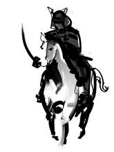 馬に乗る侍