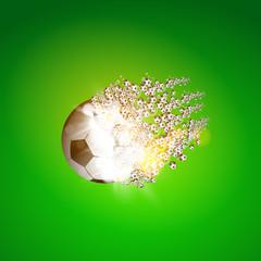 Fototapeta Piłka nożna soccer ball light cover easy all editable