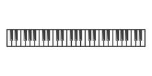 Vector Black Piano Key Icon