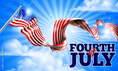 Fotografia  Fourth of July Independence Day American Flag