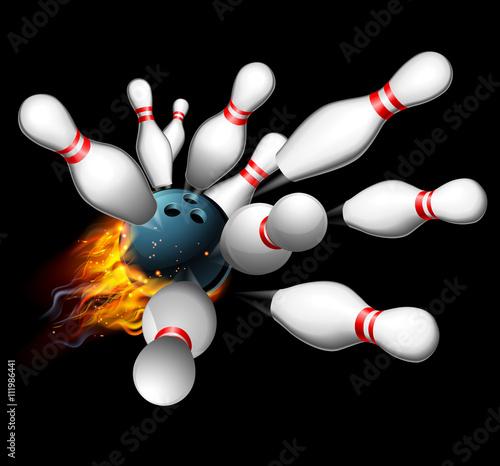 Bowling Strike Concept Canvas Print
