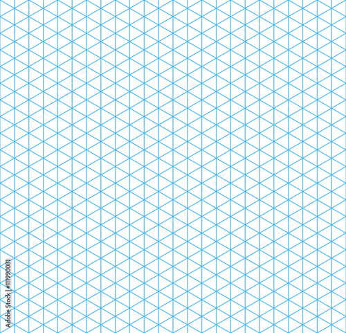 fototapeta na ścianę Cyan isometric grid with vertical guideline, seamless pattern