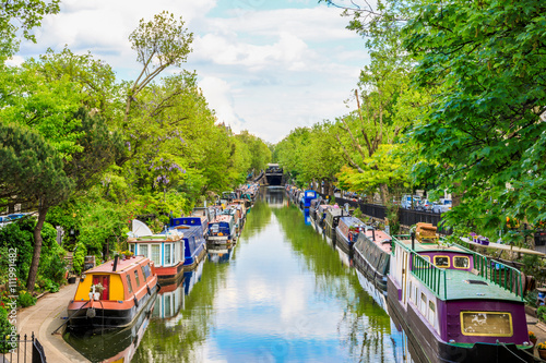 Foto op Canvas Kanaal Little Venice in London