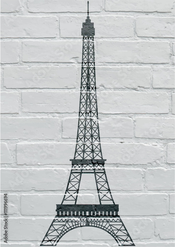 Art urbain, Paris, la tour Eiffel Poster