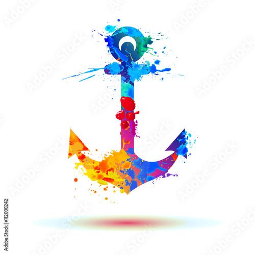 Fotografia anchor of splash paint