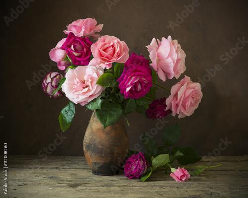Fototapeta Still life with roses obraz