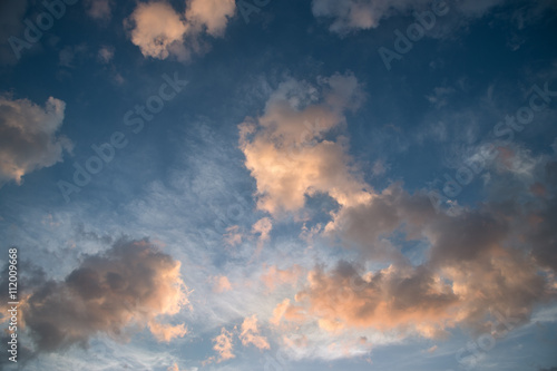 Canvas Prints Heaven Beautiful cloud over blue sky background