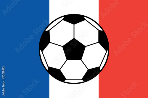 Photo  Euro 2016 France football championship with ball and france flag colors