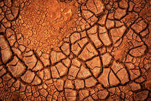 Dry Cracked Earth Surface
