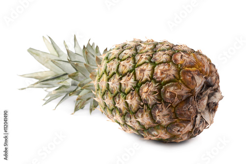 Fototapety, obrazy: Whole pineapple isolated over white background