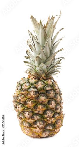Fototapety, obrazy: Cut pineapple isolated over white background