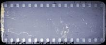 Vintage Blue Film Strip Frame Background