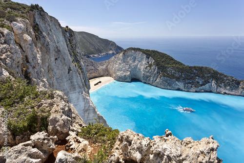 Greece, Ionian Islands, Zakynthos, Navagio or Shipwreck Beach