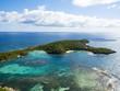 West Indies, Antigua and Barbuda, Antigua, aerial view, Green Island, Green Bay