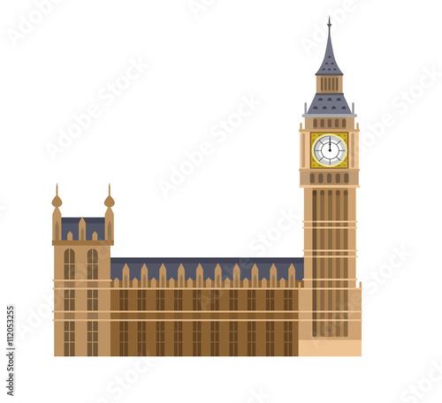 Photo Vector illustration of the Big Ben