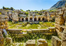 Ruins In Ancient Corinth, Peloponnese, Greece, Europe