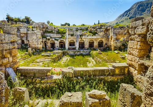 Foto ruins in Ancient Corinth, Peloponnese