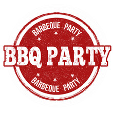 Barbecue Party Stamp