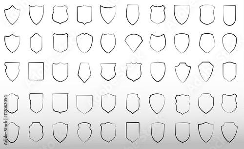 Fototapeta Set of vector shields