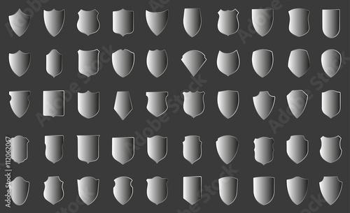 Fotografie, Obraz Set of vector shields