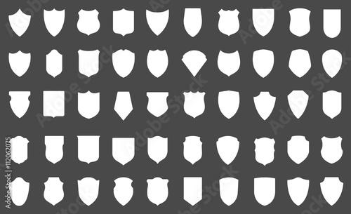Obraz na plátně Set of vector shields