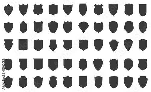 Canvas-taulu Set of vector shields