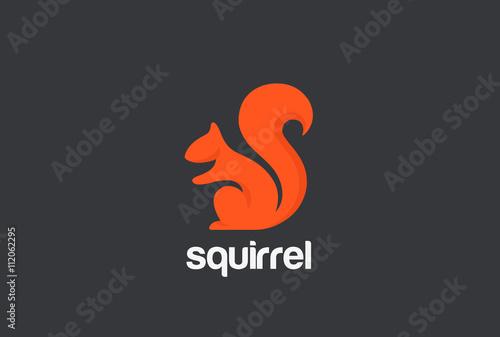 Fotomural  Squirrel Logo silhouette design vector. Animal Logotype icon