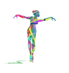 Fototapetaabstract dancer silhouette