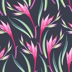 Tapeta Jungle flowers seamless