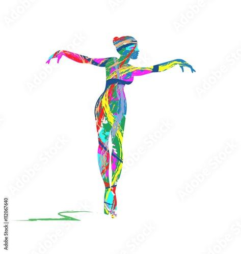 Obrazy na płótnie Canvas abstract dancer silhouette