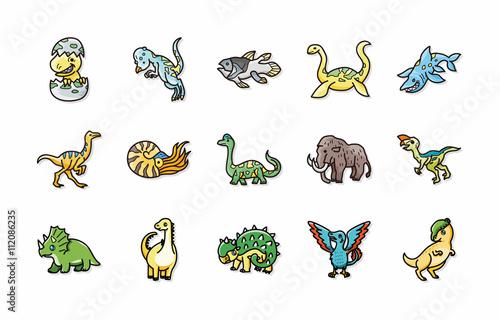 Photo  Dinosaurs icons set,eps10