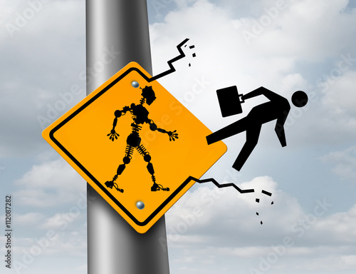 Fotografie, Obraz  Robots Taking Jobs
