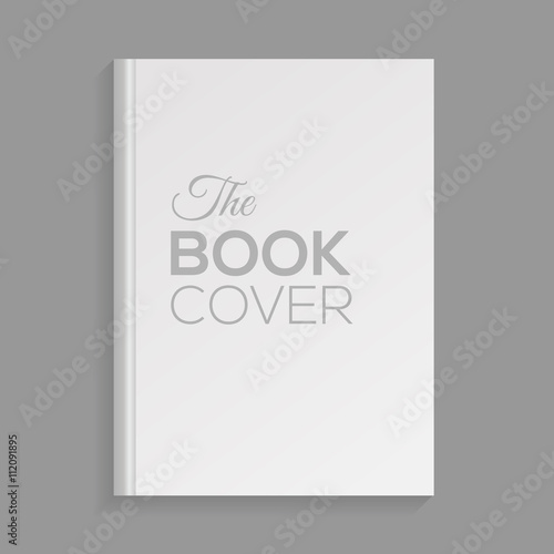 Fotografering  Mockup of blank white book cover