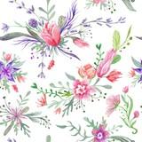 Watercolor Vintage Summer Pattern - 112102696