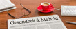 canvas print picture - Zeitung auf Schreibtisch - Gesundheit und Medizin