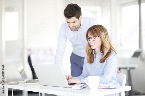 Foto Teamarbeit im Büro