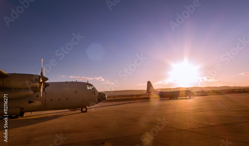 Hercules aircraft VIII Tablou Canvas