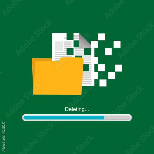 Fotografía Deleting document or file. Deleting process.