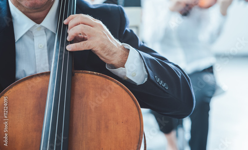 Professional cello player Wallpaper Mural