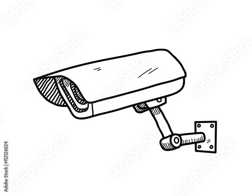 CCTV Camera, a hand drawn vector doodle illustration of a CCTV camera. - Buy this stock vector ...