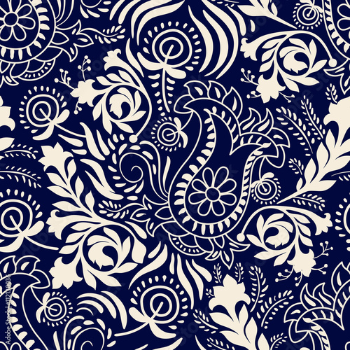 kwiatowy-wzor-paisley-tlo-w-dwoch-kolorach