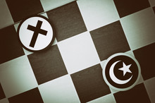 Christianity And Islam Symbols...
