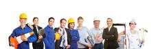 Viele Arbeiter Und Handwerker Und Geschäftsleute