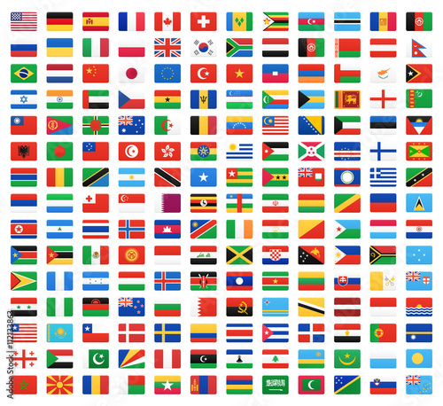 Flag of world. Vector icons Canvas-taulu