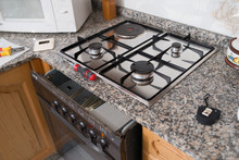 Gas Hob And Oven In A Kitchen