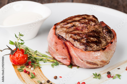 Photo  grilled fillet steak