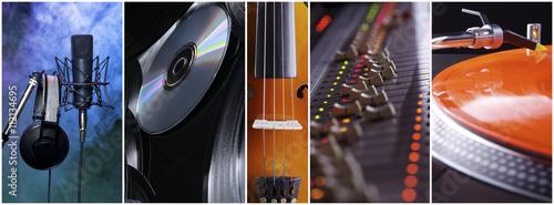 Fotografie, Obraz  Musikalische Collage