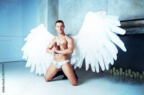 Fényképezés  man with angel wings