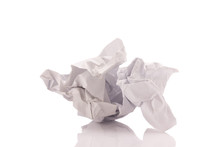 Crumpled Paper Isolated On White Background
