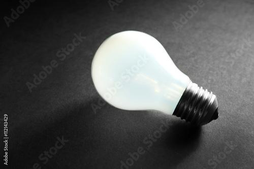 Fototapety, obrazy: Electric bulb on grey background
